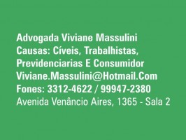 Advogada Viviane Massulini