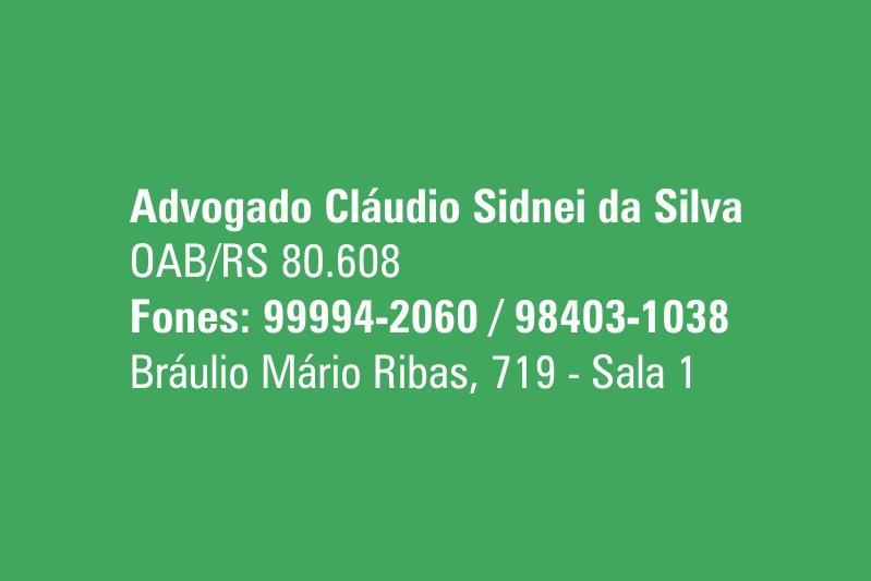 Advogado Claudio Sidnei da Silva
