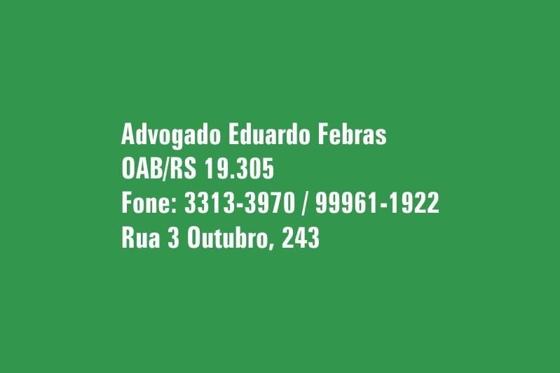 Advogado Eduardo Febras
