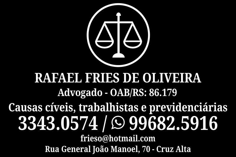 Advogado Rafael Fries de Oliveira